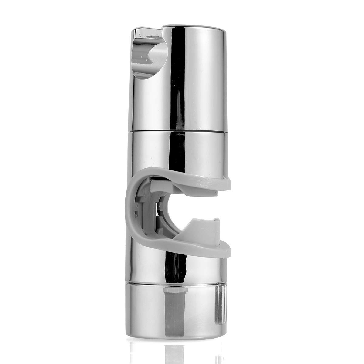 19~25mm Universal Adjustable ABS Shower Rail Head Slider Holder Replacement Bracket Slide Clamp (Color : Silver Grey) Tabpole
