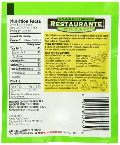 Chi-Chi's Restaurante Seasoning Mix, 0.78-Ounce Packages (Pack of 24) by Chi Chi's (Image #4)