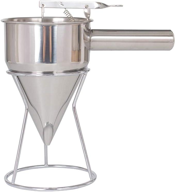 Stainless Steel Donut Cupcake Waffle Batter Funnel L0Z1 Pancake Dispenser