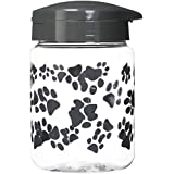 IRIS Pet Treat Jar, 64 oz, Gray