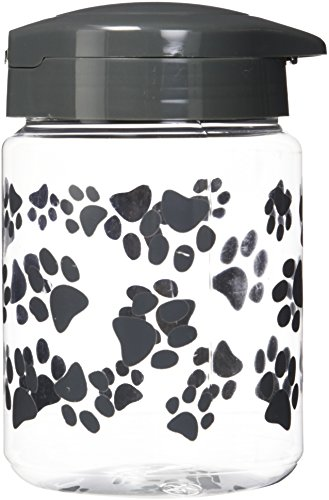 IRIS Pet Treat Jar Gray