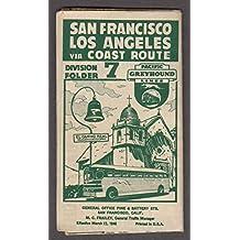 Pacific Greyhound Bus Lines San Francisco-Los Angeles Div 7 Schedule 1946