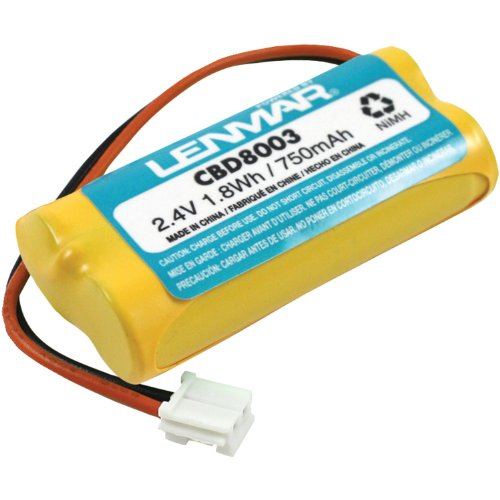 Lenmar Nickel Cordless Battery - Lenmar CBD8003 2.4V 700mAh NiMH Replacement Battery for V-Tech 8003 cordless phone battery