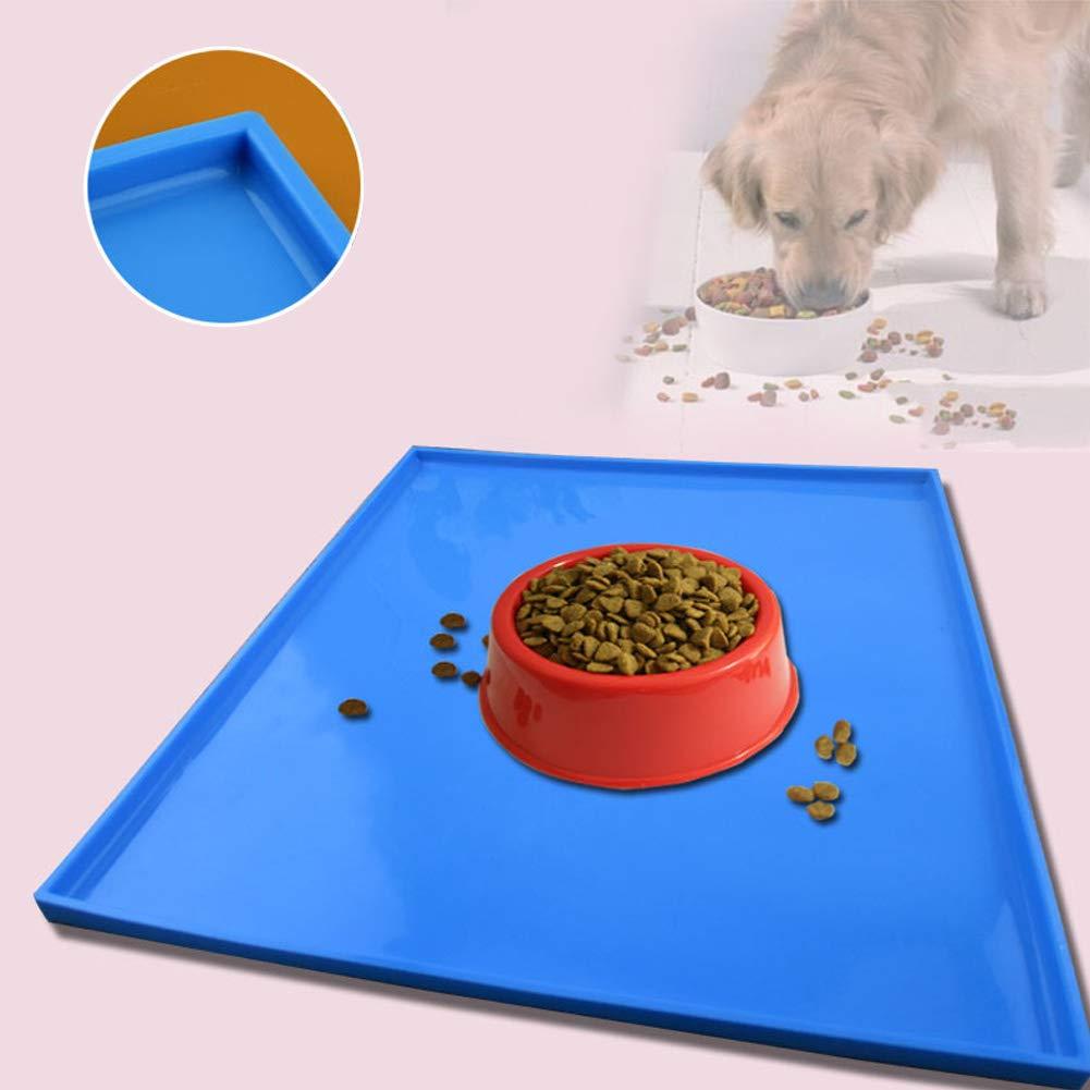 Antiscivolo Colore: Rosso a Prova di perdite SYN Tappetini in Silicone per Cibo per Cani e Gatti