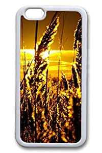 iPhone 6 Case - Tall Spikes Of Grass Beautiful Scenery Pattern Rubber White Case Cover Skin For iPhone 6 (4.7 inch)