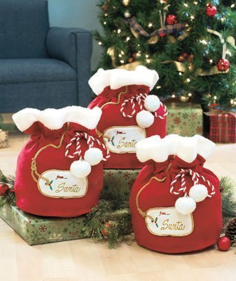 Set of 3 Santa's Gift Bags by LTD Commodites