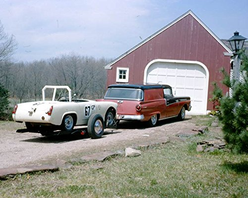 1958 Ford Courier & 1962 MG Midget Race Car Photo
