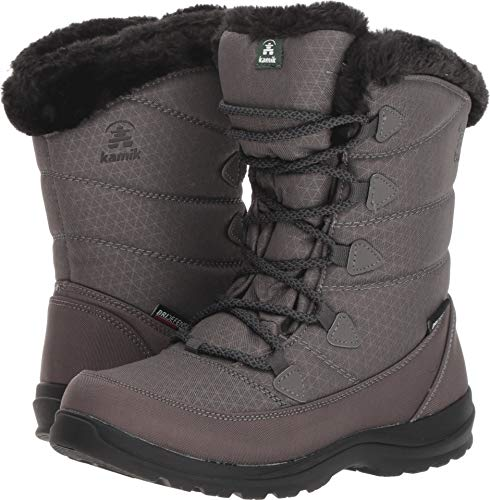 Kamik Women's POLARJOY Snow Boot, Charcoal, 8 Medium US ()