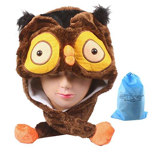 Silver Fever Plush Soft Animal Beanie Hat (Owl) - Owl Fleece Hat