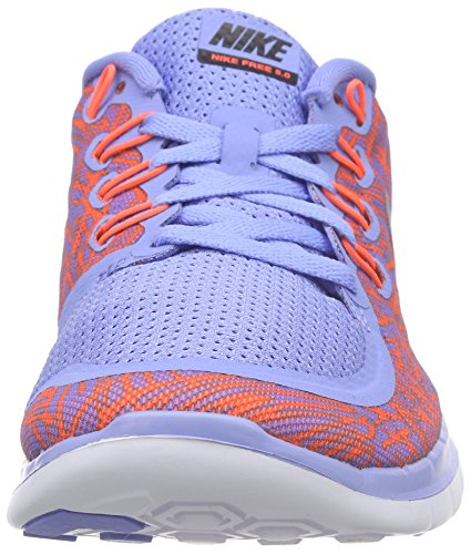 Nike Free 5.0 Print, Chaussures de Running Compétition Femme Multicolore - Multicolor (Chalk Blue/Black-Ttl Crmsn-Wht 408)