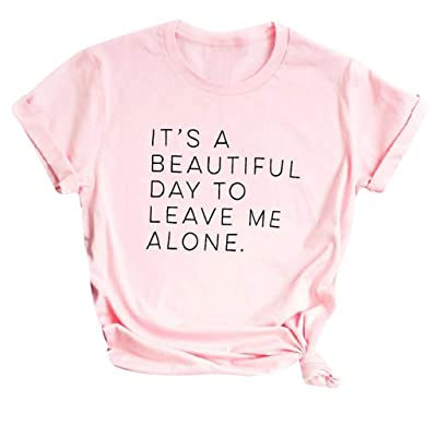 Xinantime Womens Casual Tee Shirts Letter Printed Short Sleeve Pullover Female Shirt Tunic Tops at Women's Clothing store