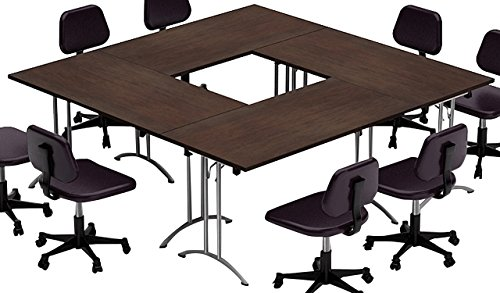 Meeting Chair Conference (COMPACT SPACE MAXIMUM COLLABORATION – Meeting Seminar Conference Tables - ASSEMBLED Easy-To-Setup-and-Use -