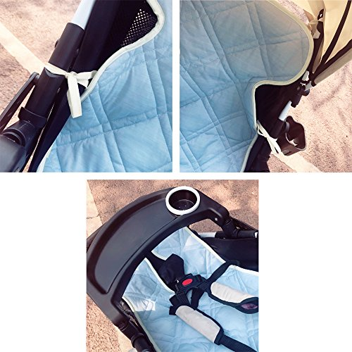 ALYER Touch-Cooling Technology Baby Car Seat Liner,Comfortable Stroller Cushion/Pad,Infant Highchair Mat by ALYER (Image #4)