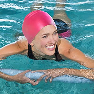 Swimtastic Silicone Swim Cap for Kids & Adults