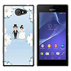 Dragon Case - FOR Sony Xperia M2 - get merried - Caja protectora de pl??stico duro de la cubierta Dise?¡Ào Slim Fit