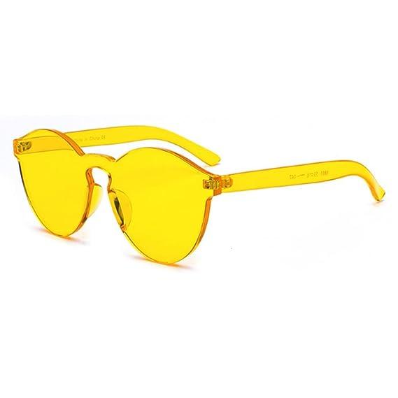 Mxssi One Piece Gafas de sol sin Montura color caramelo ...