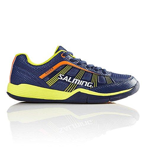 (Salming Adder Junior Indoor Court Shoe Blue/Yellow (5))