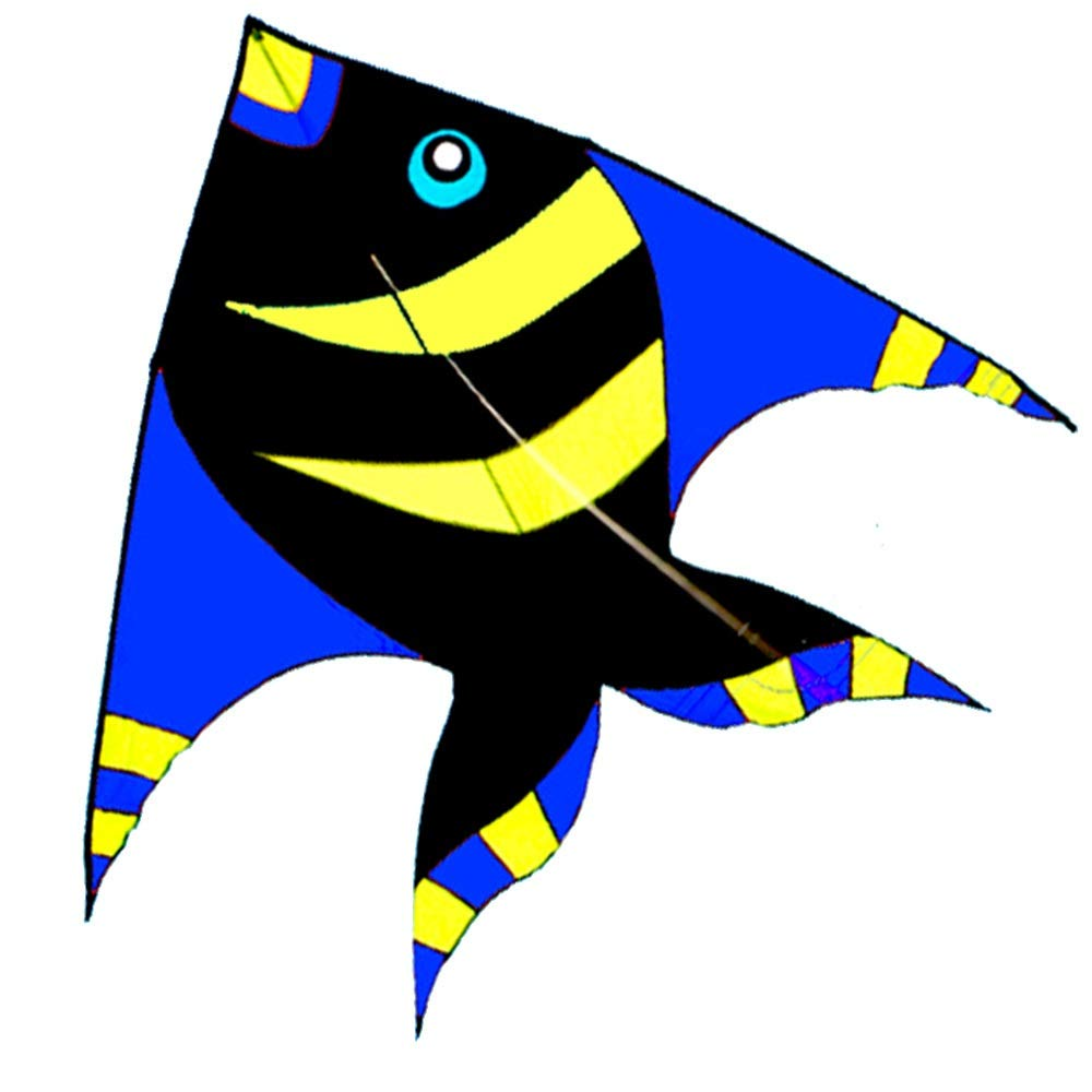 凧,カイトフライング 大人用大型子供用そよ風凧、プロ初心者用凧(リール付) 屋外のおもちゃを飛ばすのが簡単 (色 : D) B07QWDQL3G U  U