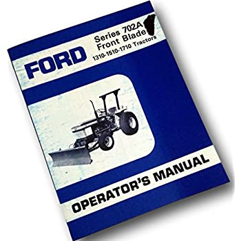 Ford 1600 Tractor Owner Operators Instruction Manual