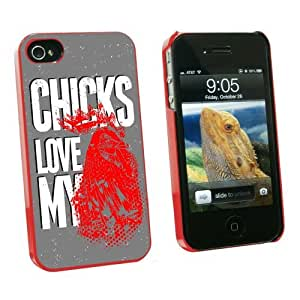 Graphics and More Chicks Love My Rooster - Chicken Cock - Snap On Hard Protective Case for Apple iPhone 6 plus 5.5 - Red - Carrying Case - Non-Retail Packaging - Red