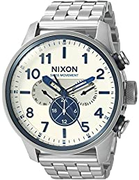 Men's 'Safari Dual Time' Swiss Quartz Stainless Steel Casual Watch, Color:Silver-Toned (Model: A1081130-00)