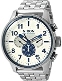 Nixon Men's 'Safari Dual Time' Swiss Quartz Stainless Steel Casual Watch, Color:Silver-Toned (Model: A1081130-00)