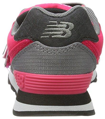 New Balance Unisex-Kinder 574v1 Sneaker Mehrfarbig (Pink/grey)