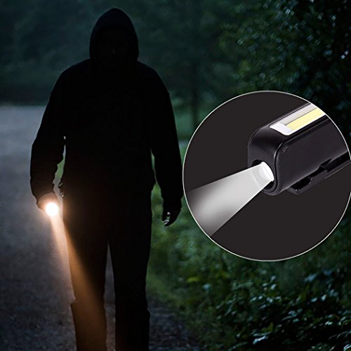 Rechargeable LED COB Work Light, Dual-Function Pocket-Sized Portable Handheld Flashlight Worklight Inspection Lamp with USB Charging Cable and Magnetic Strip (led Work Light) by PPUNSON (Image #5)
