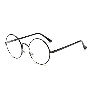 c19ef2bff Peals Vintage Round Glasses Frame For Spectacle Frames Women Men Clear  Optical Transparent Eyeglasses,Black
