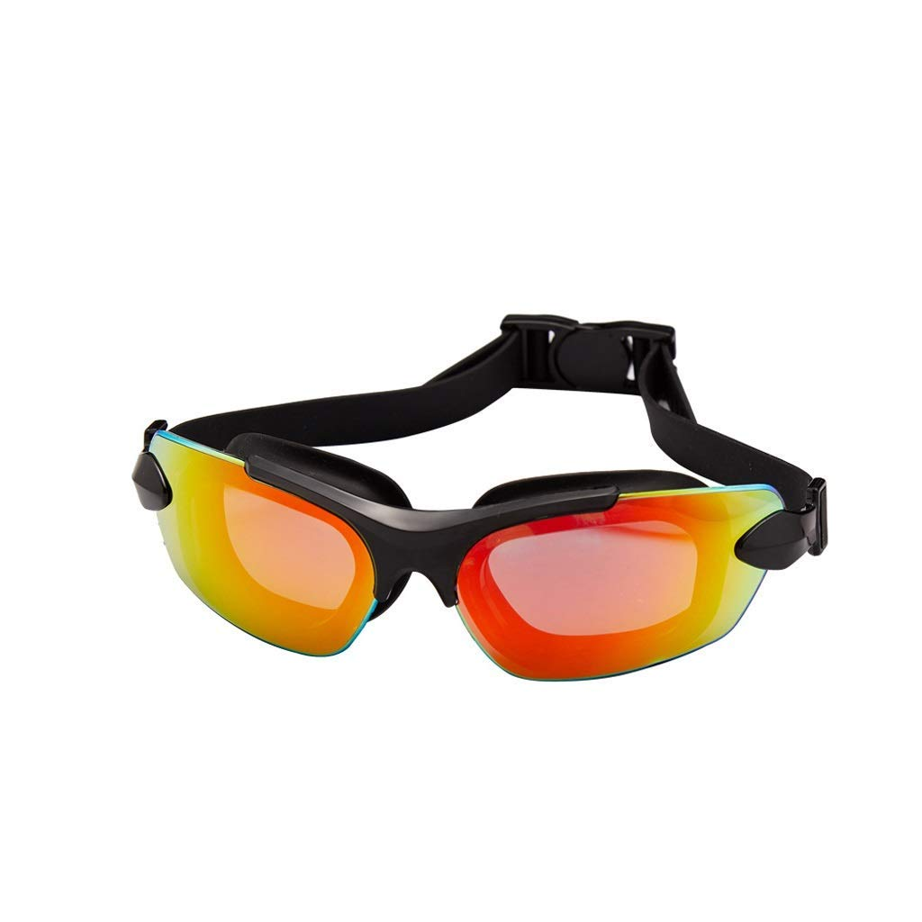 A Goggles, HD AntiFog Men's Swimming Goggles Waterproof Large Field of View Adult Goggles, Multicolor Optional
