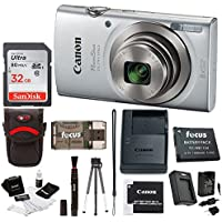 Canon PowerShot ELPH 180 20 MP Digital Camera (Silver) w/...