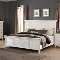 Roundhill Furniture Regitina 016 Bed, Queen, White