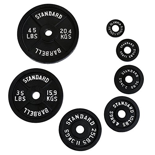 Ader Olympic Black Plates Set- (0.5 Kg, 1.25 Kg, 2.5kg, 5 Kg) 4 Pairs by Olympia Sports