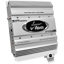 Premium Lanzar Car Audio, Amplifier Car Audio, Car Stereo Amplifier, 2,000 Watt, 2 Ohm, Mosfet Amplifier, RCA Input, Subwoofer Bass Control, Power Amp, LED Indicator, Car Electronics (VIBE422)
