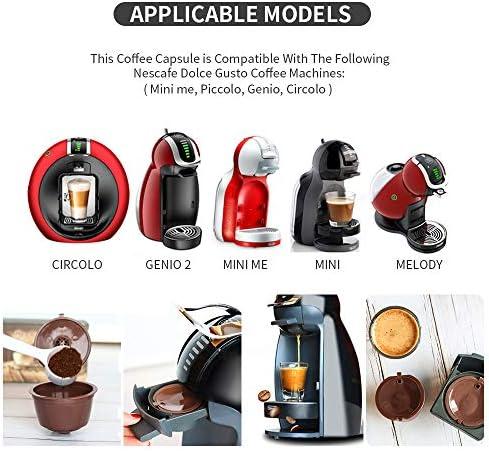 Letilio Filtros Cápsulas de Café Multicolor para Dolce Gusto Cafetera Fuerte al Menos 160 Veces de usos para reemplazo,6 pcs con 1 cucharón de plástico y 1 Cepillo de Limpieza…: Amazon.es: Hogar