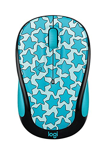 (Logitech Doodle Collection M325c - Mouse - optical - 5 buttons - wireless - 2.4 GHz - USB wireless receiver - Twinkle Teal)