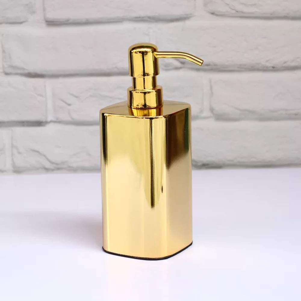 YUTU Luxury Gold Lotion Soap Dispenser Stainless Steel Vertical 420ML Large Capacity