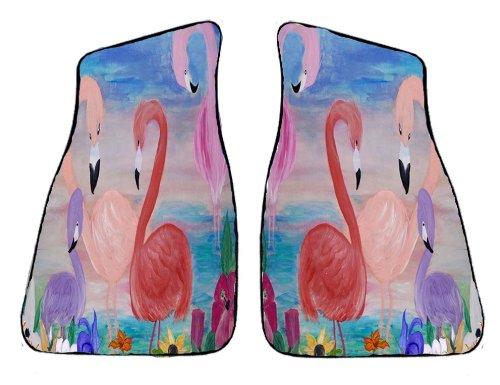 Flamingo Garden Beach Car Floor Mats