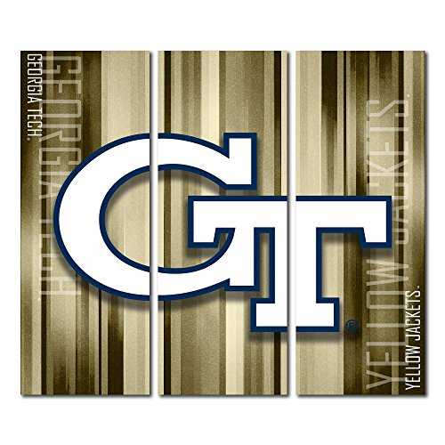 Victory Tailgate Georgia Tech Yellow Jackets Canvas Wall Art Triptych Rush Design (48x54 - Georgia Tech Photo