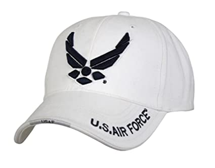 c0687cb4453d6 Image Unavailable. Image not available for. Color  Rothco Deluxe Low  Profile Cap Usaf Wing - Wht