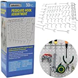 Cankadesot hook Metal Pegboard And Assorted Shelving, 50 Piece