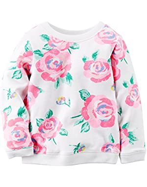 Baby Girls' Floral Top-Ivory