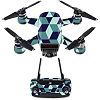 Skin for DJI Spark Mini Drone Combo - Geo Tile| MightySkins Protective, Durable, and Unique Vinyl Decal wrap cover | Easy To Apply, Remove, and Change Styles | Made in the USA