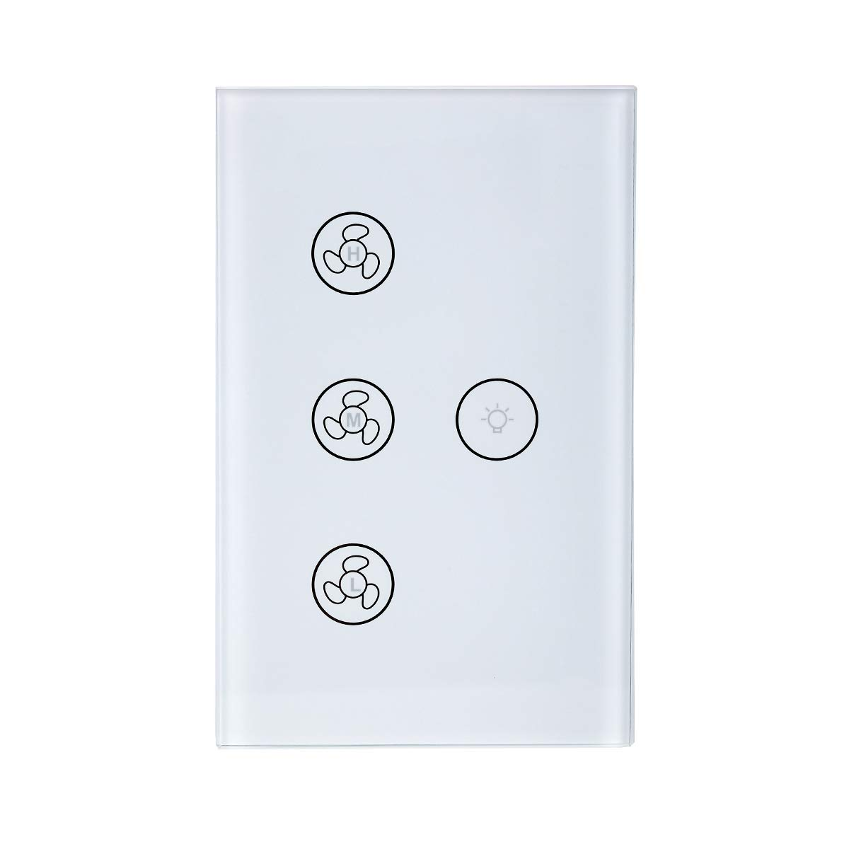Astrolabe Smart Touch Pad Light Switch Tempered Glass Compatible with Alexa and Google Home (Smart Ceiling Fan Light Switch)