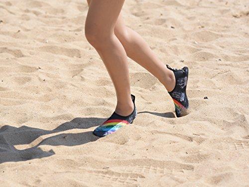 Koraman Hommes Stretch Eau Chaussures À Séchage Rapide Pieds Nus Anti-dérapant Aqua Chaussettes Pour Nager Plage Yoga Rose