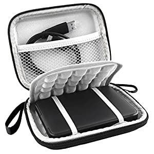 Lacdo EVA Shockproof Carrying Case for Western Digital My Passport Studio Ultra Slim Essential WD Elements SE Portable 500GB 1TB 2TB USB 3.0 Portable 2.5 inch External Hard Drive Travel Bag from Lacdo