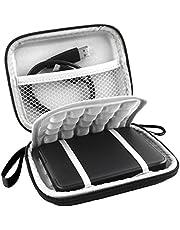 CoWalkers Shockproof External Hard Drive Case for Western Digital My Passport Studio Ultra Slim Essential Elements WD SE Portable 500GB 1TB 2TB USB 3.0 Travel Bag for 2.5-inch Portable Hard Drive, Black