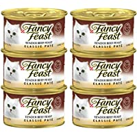 Purina Fancy Feast Classic Tender Beef Wet Cat Food Can 85g (6 Cans)