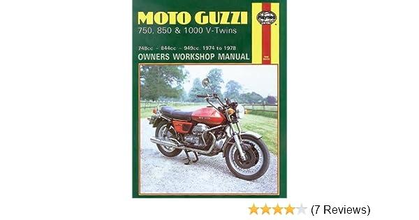 Haynes Workshop Manual Moto Guzzi 750 850 1000 V-Twins 1974-1978 Service Repair