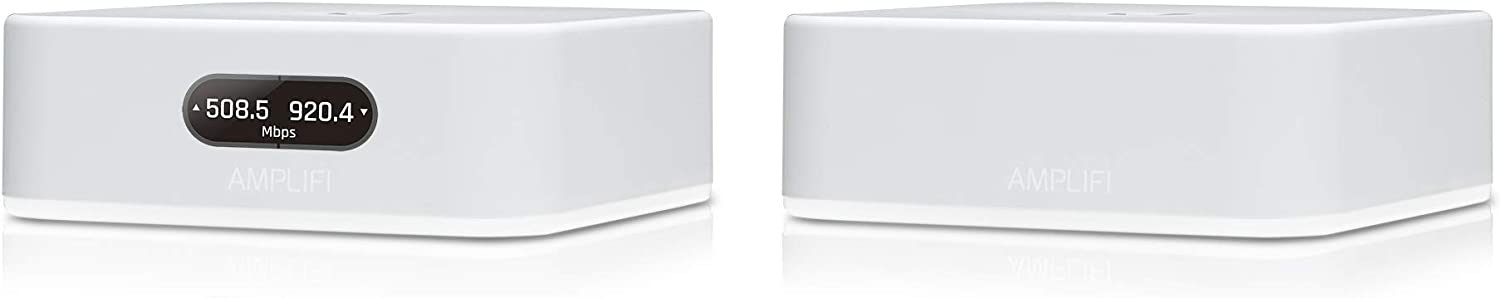 AmpliFi Instant Wifi System by Ubiquiti Labs, Seamless Whole Home Wireless Internet Coverage, Wifi Router & Mesh Point, 1 Gigabit Ethernet, 1 WAN Port, Ethernet Cable, Replaces Router & WiFi Extenders